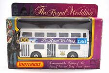 Matchbox SUPERKINGS K-15 LONDON BUS The LONDONER 1981 The ROYAL WEDDING MIB