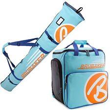 BRUBAKER 'Super Champion' Kombi Stiefeltasche + Skisack 170cm Hellblau Orange