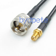 UHF SL16 male plug PL259 PL-259 to RP-SMA female RF Pigtail Cable RG58 200cm 6ft