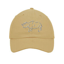Rhino Embroidered SOFT UNSTRUCTURED Hat Baseball Cap