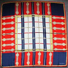 foulard carré en crêpe de soie PIERRE CARDIN 87 cm x 85 cm