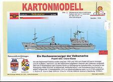 MDK-Verlag 7035-Scatola di cartone modello-Servizi pubblici progetto 602-Marina Popolare - 1:250