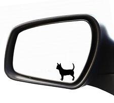 2x Specchietto Adesivo Chiwawa Chihuahua Bulldogge Targa Riconoscimento