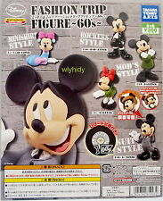 Disney Mickey & Minnie Fashion Figure 60's, 5pcs - Takara Gashapon , h#1