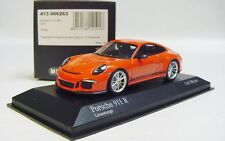 "1:43 MINICHAMPS 2016 PORSCHE 911R 991 II ""ALMOST REAL"" Lava Orange LE 188 pcs."