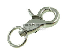 4pcs Silver Metal Lobster Trigger Swivel Clasps Snap Hooks Key Chains HK003