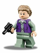 LEGO STAR WARS FORCE AWAKENS MINFIGURE GENERAL LEIA WITH BLASTER GUN 75140