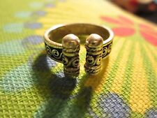 925 TMA Silver Gold Ring Made in Thailand Size 7 1/2