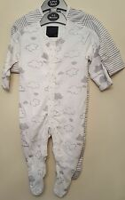 BABY BOYS GIRLS EX HIGH STREET 2 PACK BABYGROWS SLEEPSUIT NIGHTWEAR