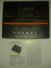 Inteligent Solar Charge Controller 80A Auto 12/24 volt LCD Screen 5 volt USB