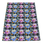 Giggle and Hoot Fabric  Poly Cotton 1m x 1.47m