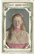 Chromo Guérin Boutron Célébrités 507 Princesse Victoria Louise de Prusse Gotha