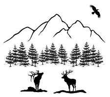 """Black Elk Mountain 4"""" Large Fused Glass Decal 15CC539"""