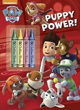 Nickelodeon Paw Patrol Puppy Power Coloring Book + 4 Chunky Crayons!! New!! Fun