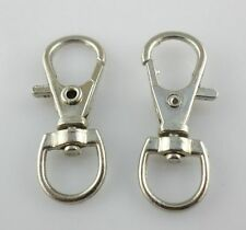 5/20/100Pcs Ancient Gold/Silver Lobster Swivel Hooks Clasps For Key Ring 11*32mm