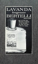 F628 - Advertising Pubblicità - 1963 - LAVANDA FRAGRANTE BERTELLI SIGILLO ORO