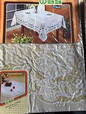 135x135 cm Tischdecke Blau Quadratisch Camping SCHUTZDECKE Blumenmuster Vinyl 0