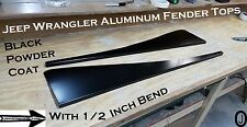 Jeep Wrangler TJ Black Aluminum Fender Covers With 1/2 inch Bend Powder Coated
