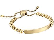 MICHAEL KORS MKJ5588 Gold MK Logo Plaque Beaded Slider Bracelet MKJ5588710