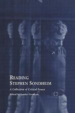 Studies in Modern Drama Reading Stephen Sondheim A Collection of Critical Essays