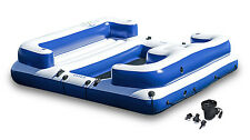 Intex Oasis Island Inflatable Seated Floating Water Lounge Raft w/ DC Air P