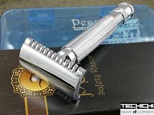 Pearl L-55 Open Comb Double Edge Safety Razor in Case