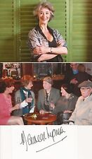 DOCTOR WHO & CORONATION STREET: MAUREEN LIPMAN SIGND 4x2 CRD+UNSIGNED PHOTOS+COA