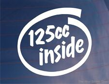 125cc INSIDE Novelty Motorcycle/Motorbike/Bike/Lawnmower Vinyl Sticker/Decal