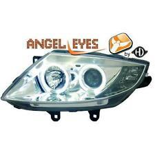 Coppia fari fanali anteriori TUNING BMW Z4 03-09 chrome con anelli ANGEL EYES di