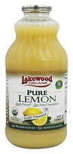 Lakewood - Organic Pure Juice Lemon - 32 oz.