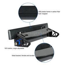 Car License Plate Frame Holder Angle Adjustable Bracket Carbon Fiber Look B5D3