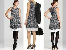 $395 DKNY NEW Audry Black Georgette A-Line Wear to Work Dress S