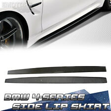 Carbon Fiber Side Skirt Add-on Lip 2016 BMW F82 F83 M4 Coupe Convertible New