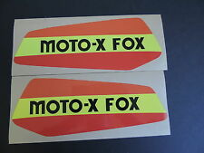 1979  Yamaha YZ 100 125 MOTO X FOX Gas Tank Decal Set. AHRMA VINTAGE MOTOCROSS