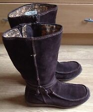 Timberland Brown Suede Leather Mid-Calf Boots Ladies Women's UK 7 1/2 (EU 42)