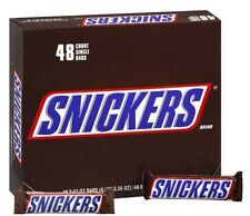 Snickers Chocolate Candy Bars 1.86 oz each - 48 ct. Always Fresh EXPEDITED SHIP