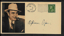 Al Capone Autograph Reprint On Original Period 1920s 3 X 6 Card Godfather *008