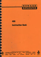 "Howard ""400"" Garden Rotavator Instruction Manual"