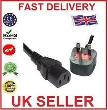 3 Pin UK Kettle Leads Plug PC Cable Power Cord for LG, Sony, Philips LCD TV