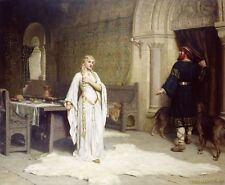 Medieval Renaissance Lady Godiva Noblewoman Painting Real Canvas Art Print New