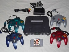 Nintendo 64 N64 System *Complete* 4 Controllers Goldeneye 007 Game Tested