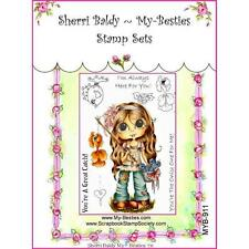 NEW My-Besties Acrylic cling Rubber Stamp HERE FOR YOU SET SET Free USA ship