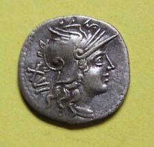 La Repubblica Romana Monetazione ha Colpito L. atilio Nomentanus Argento Denarius 141 A.C.