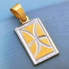 yellow gold filled  Yellow Gold Filled silver Pendant Womens Boys Mens Jewelry