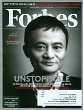2015 Forbes Magazine: Jack Ma - Alibaba Founder/Best States for Buisiness
