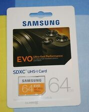 BRAND NEW Samsung 64GB EVO Class 10 SDXC Card up to 48MB/s (MB-SP64D/AM)
