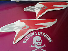 CBR 600F SILVER & RED SEAT UNIT TAIL PIECE DECALS STICKERS GRAPHICS
