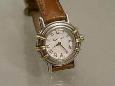 LAGOS  WATCH LADIES QUARTZ  STERLING AND 18K YELLOW GOLD