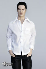 elenpriv white classic shirt for Fashion Royalty doll FR Homme Color Infusion