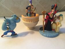 Disney Aladdin PVC Figures Hard To Find Sultan Jafar Jasmine Lot Cake Toppers
